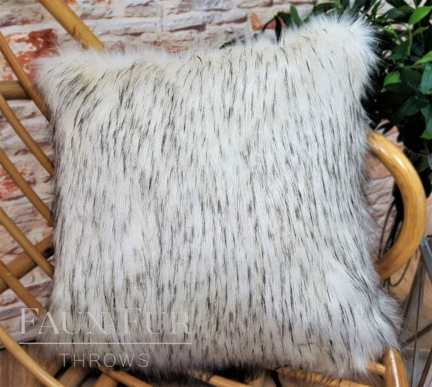 Aspen Cream Faux Fur Cushion
