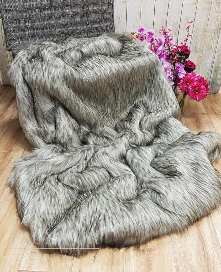 Breckenridge Silver Faux Fur Throws