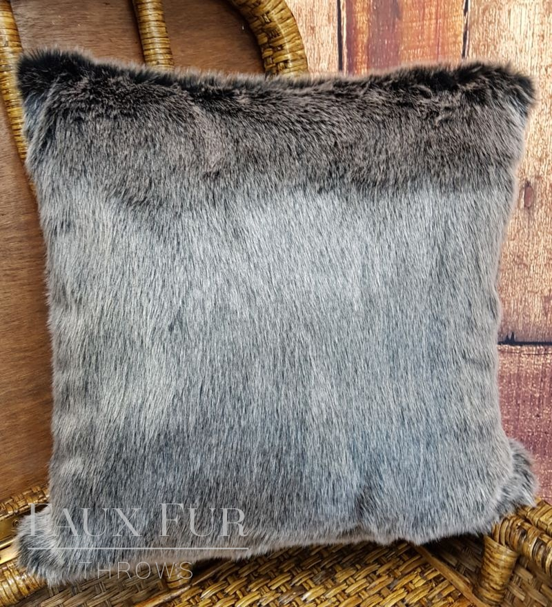 Charcoal Silver Frost Cushion