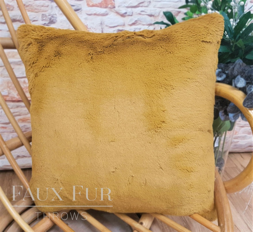 Kalahari Gold Faux Fur Cushion