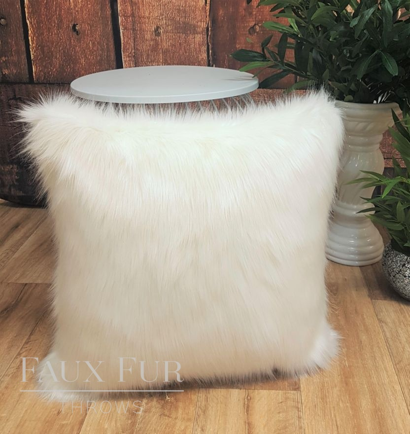Mont Blanc Faux Fur Cushion