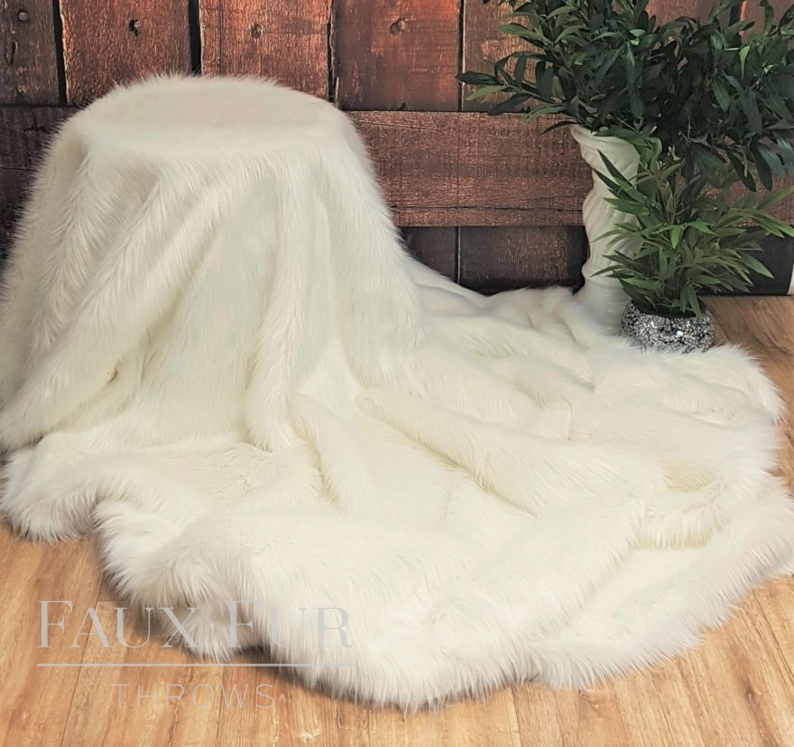 Mont Blanc Faux Fur Throw