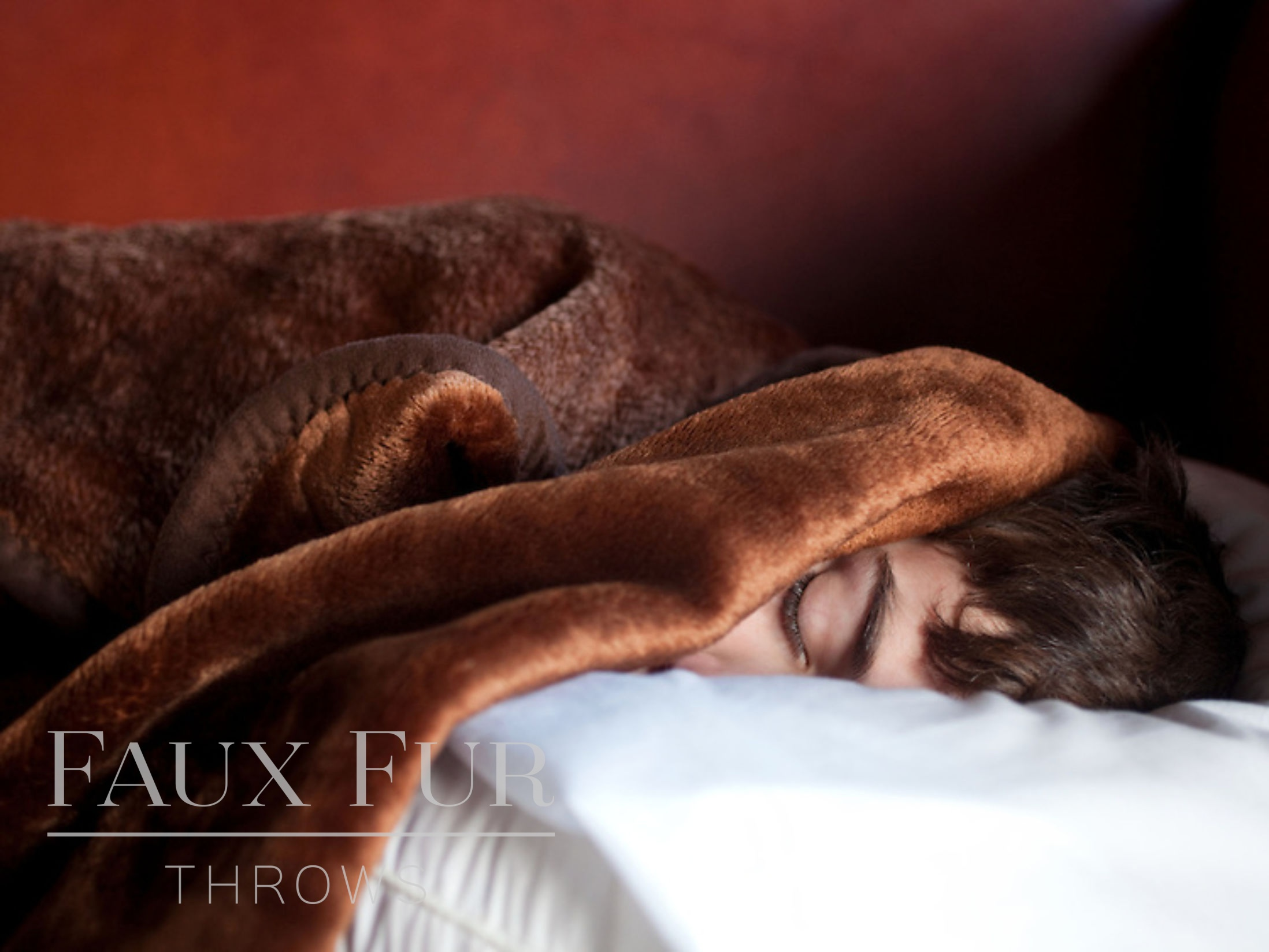 Boy-Asleep in Fur Throw