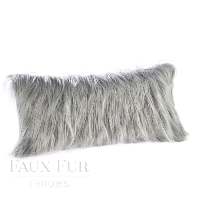 GREY DOUGAL Luxury Faux Fur Boudoir Cushion