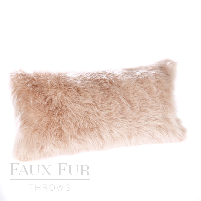 PINK CHAMPAGNE Luxury Faux Fur Boudoir Cushion