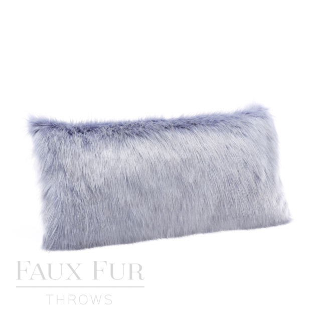 POWDER BLUE Luxury Faux Fur Boudoir Cushion