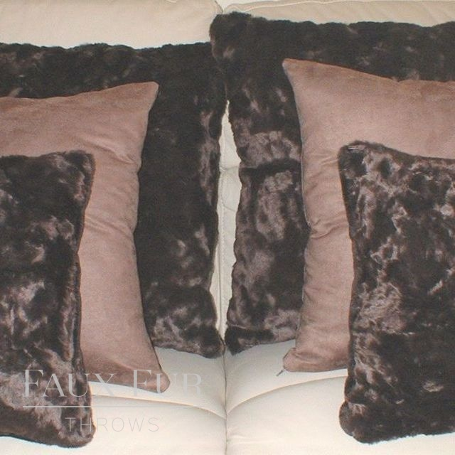 Faux fur scatter cushions