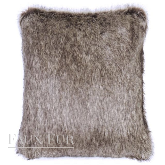 CHOCOLATE TRUFFLE Luxury Faux Fur Cushion 48 cms