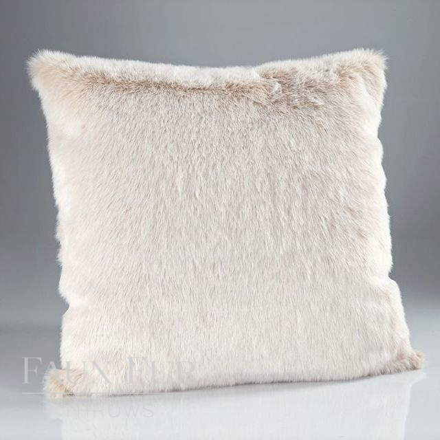 CREAM LATTE Faux Fur Cushion 45 cms