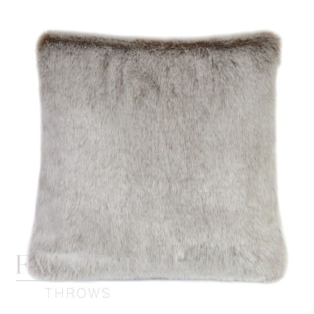 CREME CARAMEL Luxury Faux Fur Cushion 48 cms
