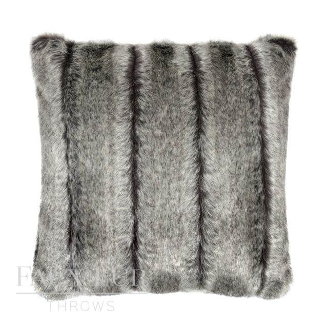 ALASKAN ASH Luxury Faux Fur Cushion