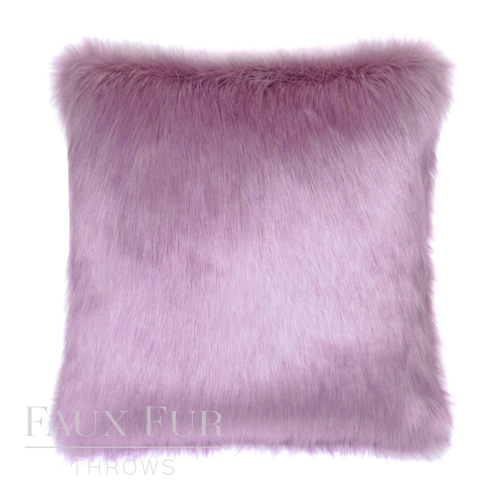 French Lavender Faux Fur Cushion Pillow