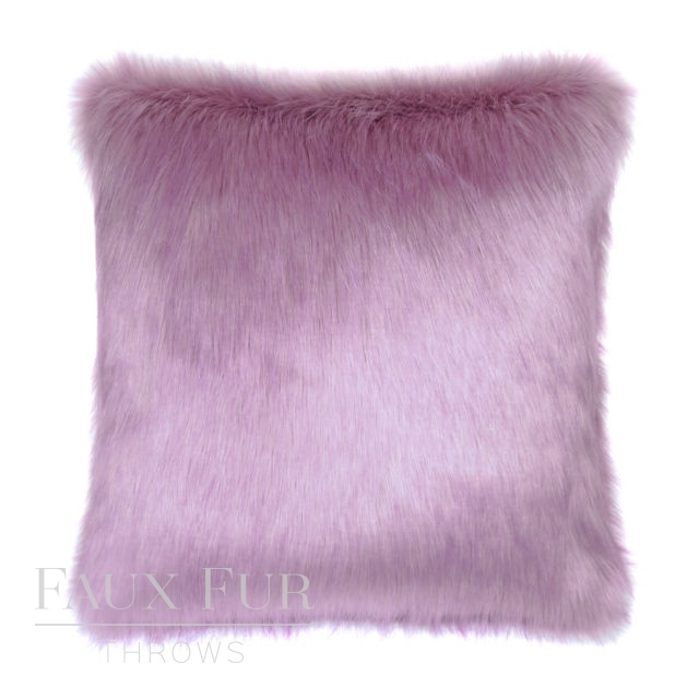 FRENCH LAVENDER Luxury Faux Fur Cushion