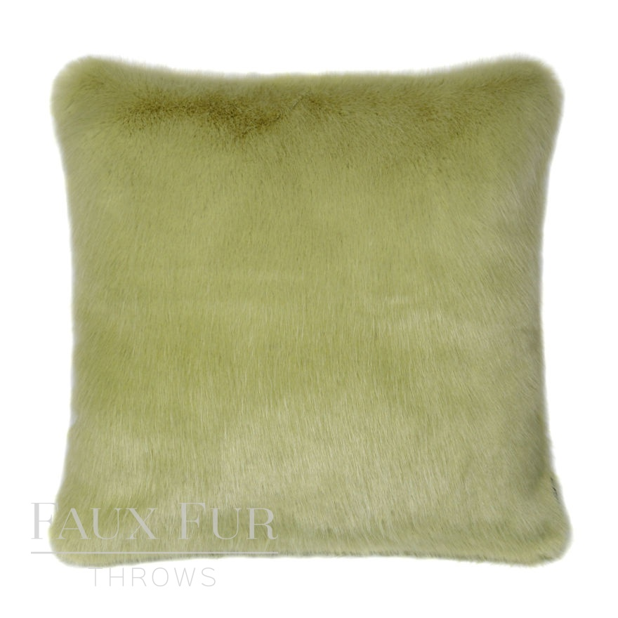 Luxury Spring Willow Faux Fur Cushion