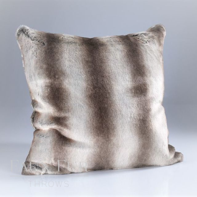 OYSTER MINK Luxury Faux Fur Cushion 60 cms