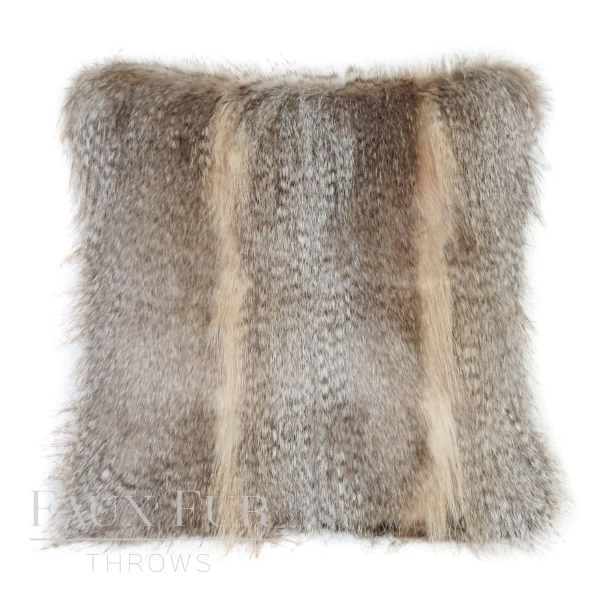 Banff Luxury Faux Fur Cushion