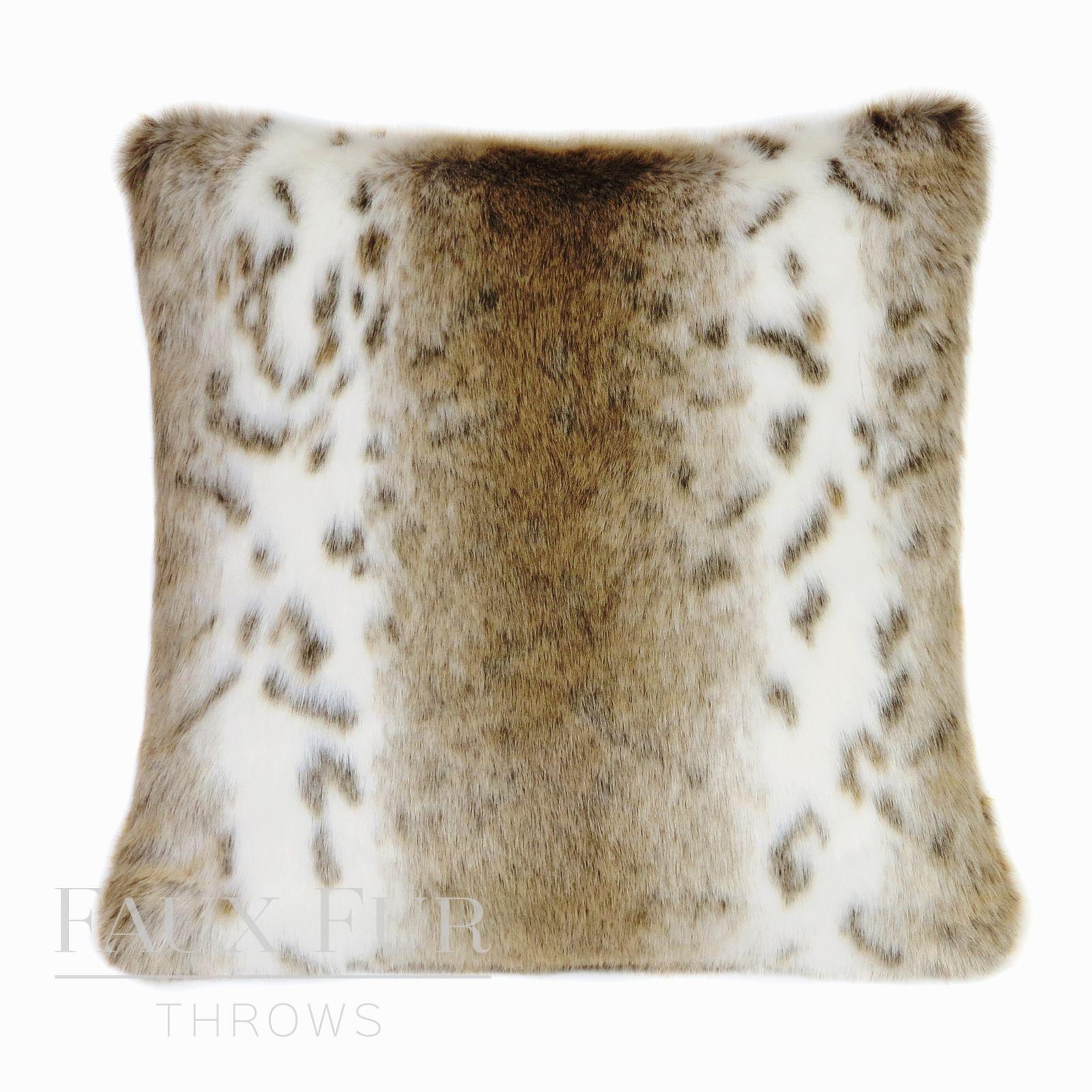 Brown White Striped Animal Faux Fur Throw u2013 Sierra Nevada