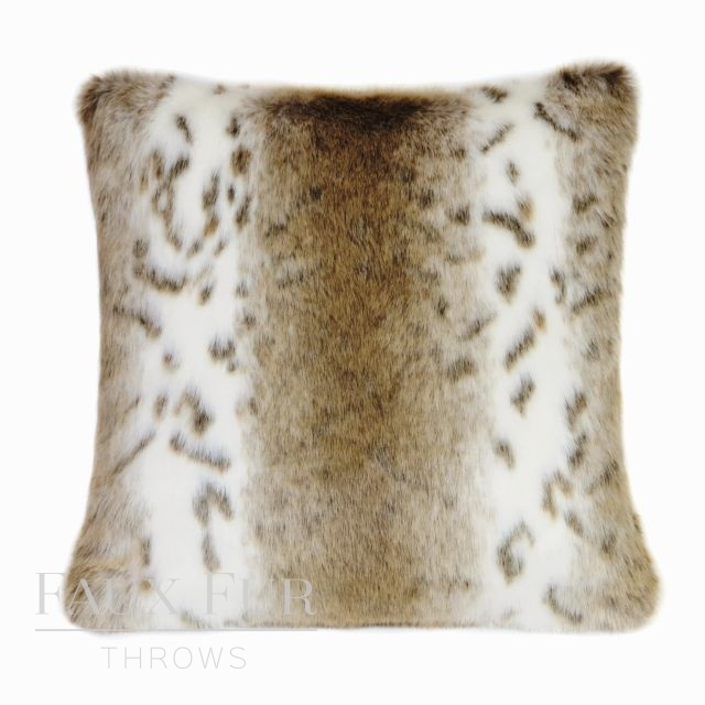 SIERRA NEVADA Luxury Faux Fur Cushion 48 cms