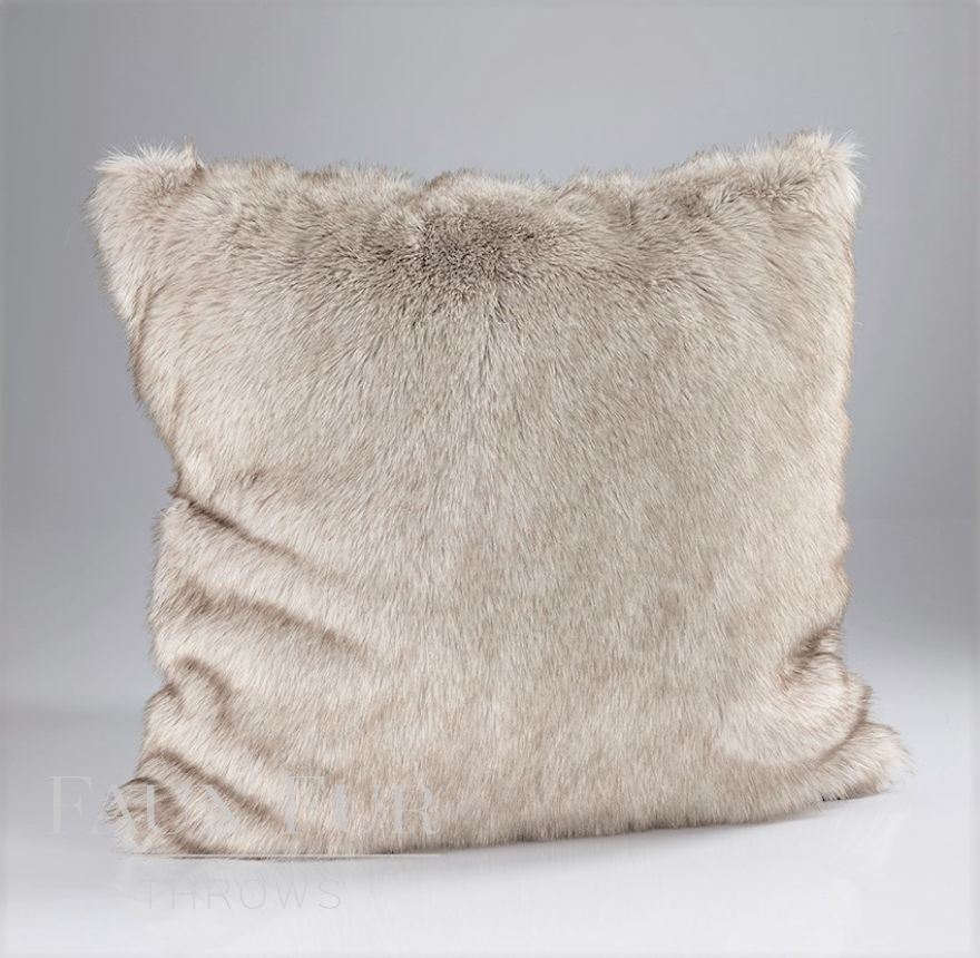 Silver-Brown Husky Cushion