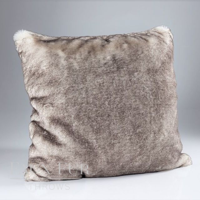 VANILLA CHOCOLATE SWIRL Luxury Faux Fur Cushion 60 cms