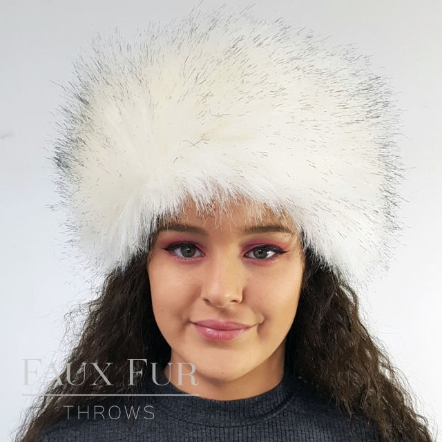 Tissavel White Faux Fur Headband