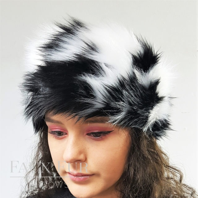 Tissavel Dogstooth Faux Fur Headband