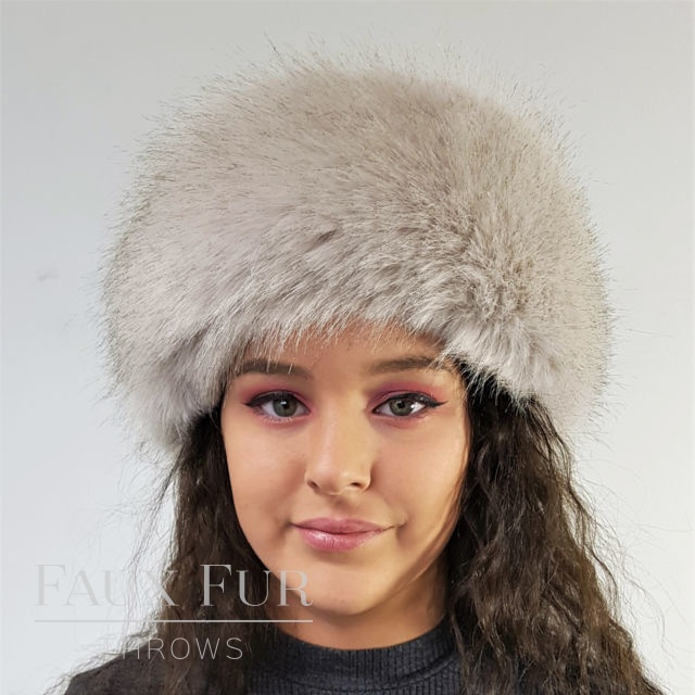 Tissavel Cream Faux Fur Headband