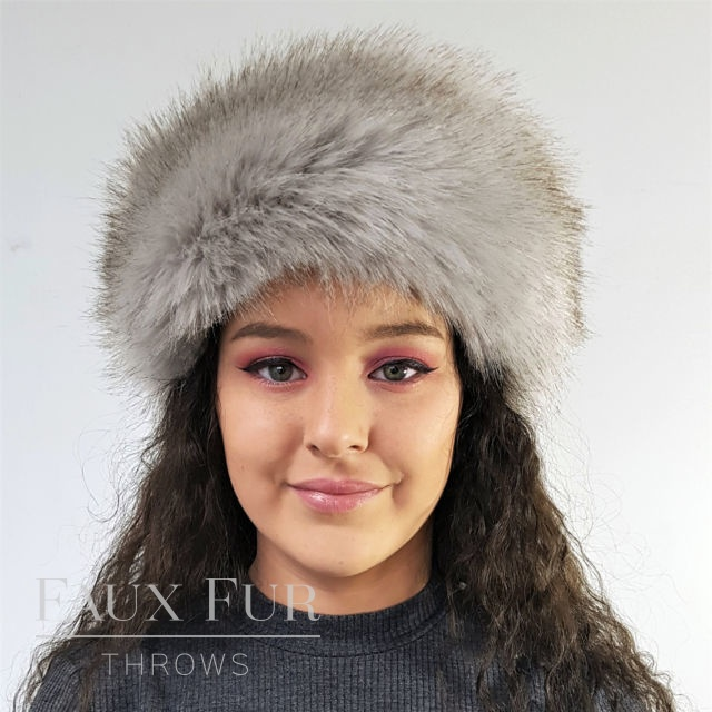 Tissavel Grey Faux Fur Headband