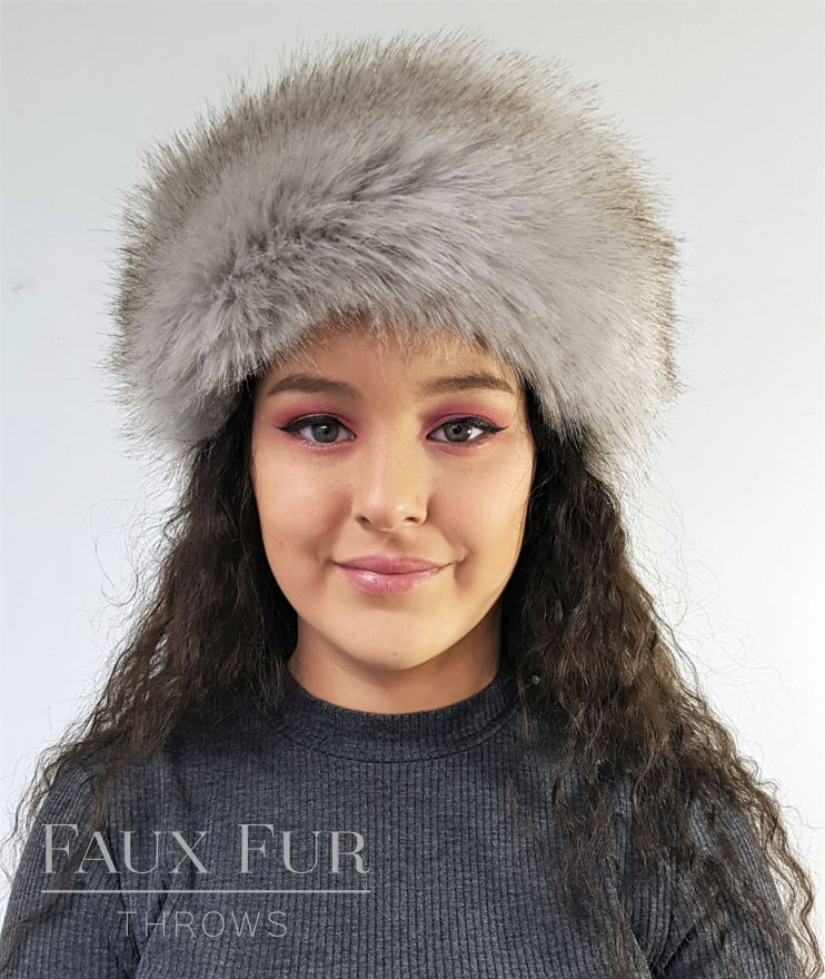Tissavel Tundra Grey Faux Fur Headband