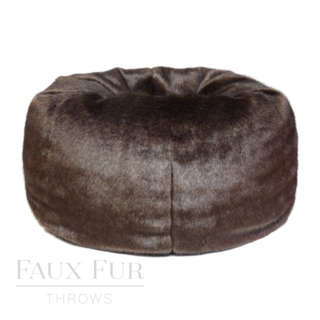 Giant Faux Fur Beanbag - BITTER DARK CHOCOLATE