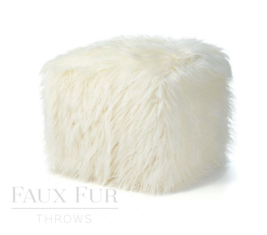 Luxury Faux Fur Cube in Mont Blanc