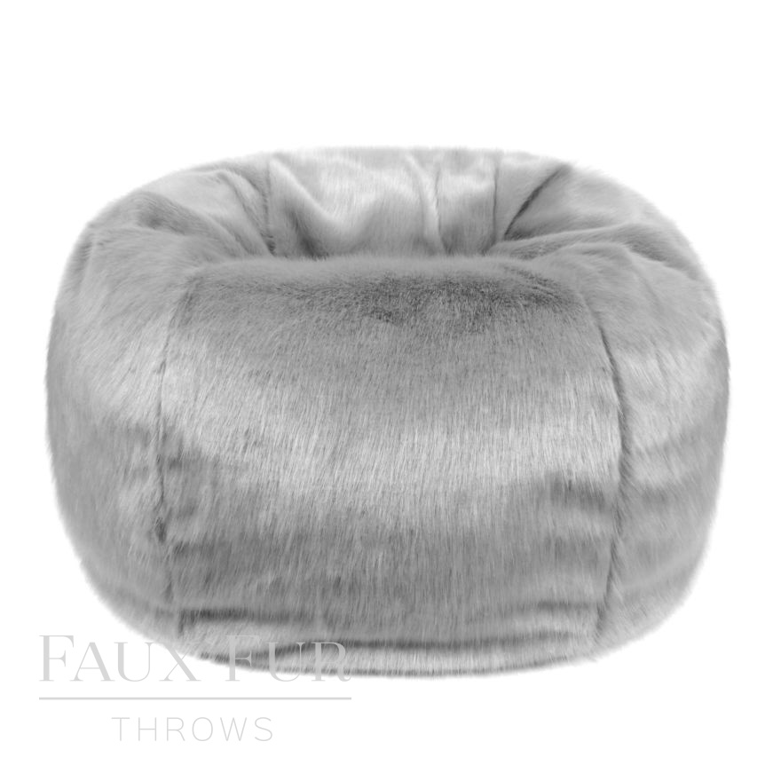 Giant Faux Fur Beanbag in Luxury Whisper Grey