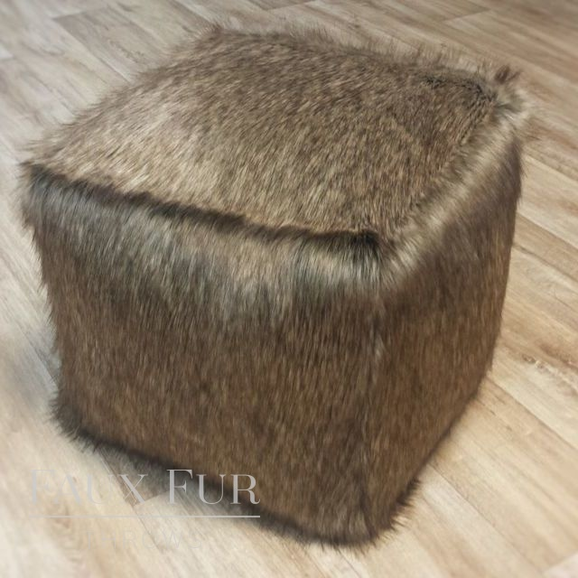Faux Fur Cube/Footrest  - Luxury BRECKENRIDGE