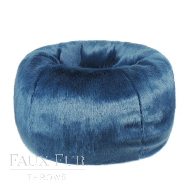 Giant Faux Fur Beanbag - METRO TEAL