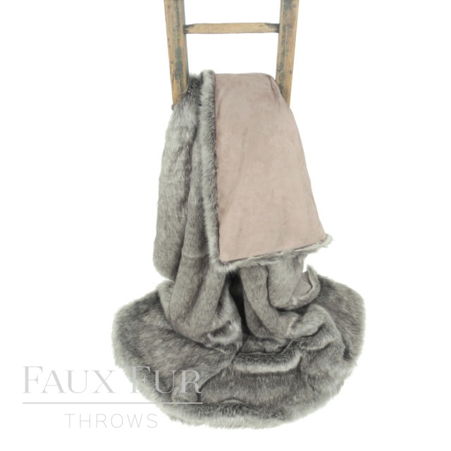 Grey Silver Faux Fur Throw – ARABIAN GREY