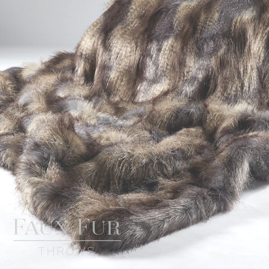Blue Mountain Luxury Longhaired Faux Fur Throw