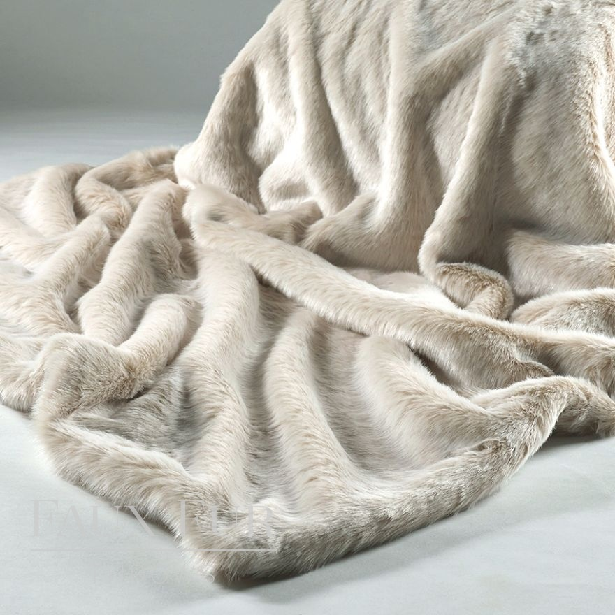 Cream Latte Faux Fur Throw
