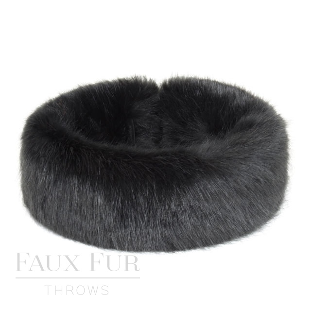 Faux Fur Headband - Huff - Charcoal by Helen Moore