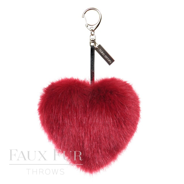 Heart Keyring - Crimson