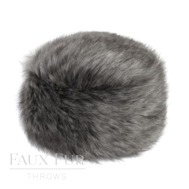 Faux Fur Hat - Designer Pillbox Style- Lady Grey by Helen Moore