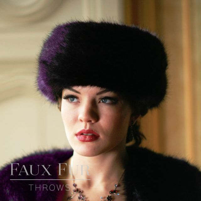 Faux Fur Hat -Occasion- Aubergine by Helen Moore