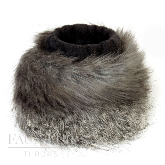 Faux Fur Cuffs (Pair) - Longhaired Mountain Wolf by Helen Moore