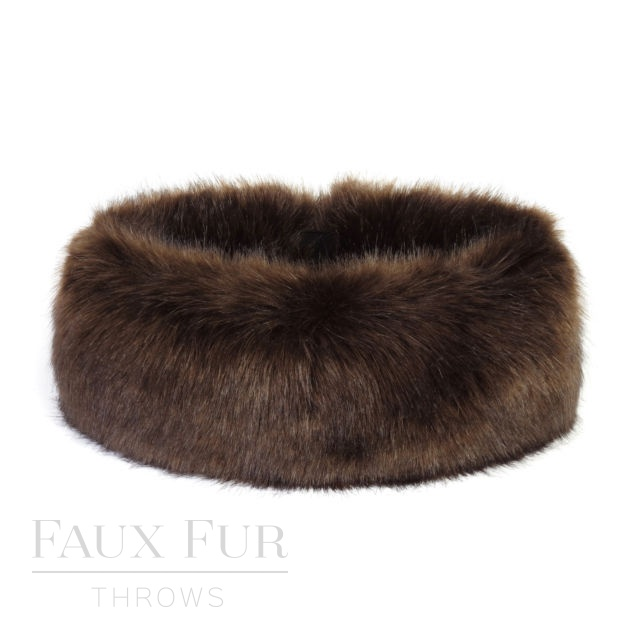Faux Fur Headband - Huff  - Treacle by Helen Moore