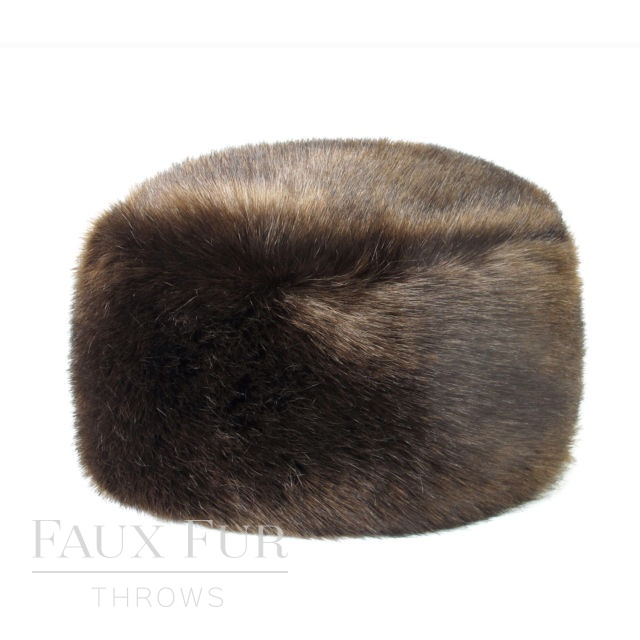 Faux Fur Hat - Designer Pillbox Style- Treacle by Helen Moore
