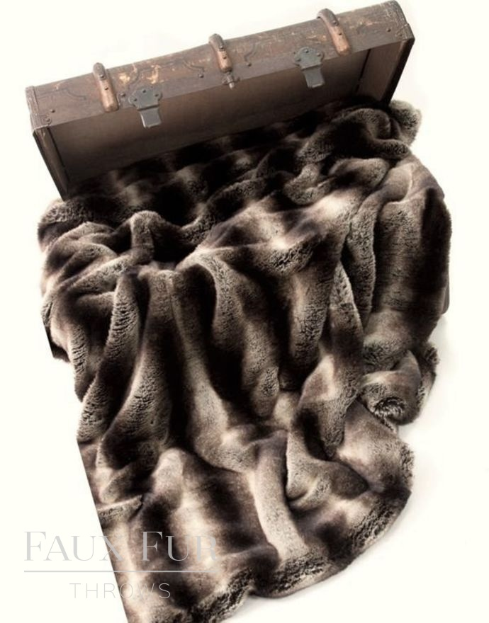 Meribel Luxury Faux Fur Throw