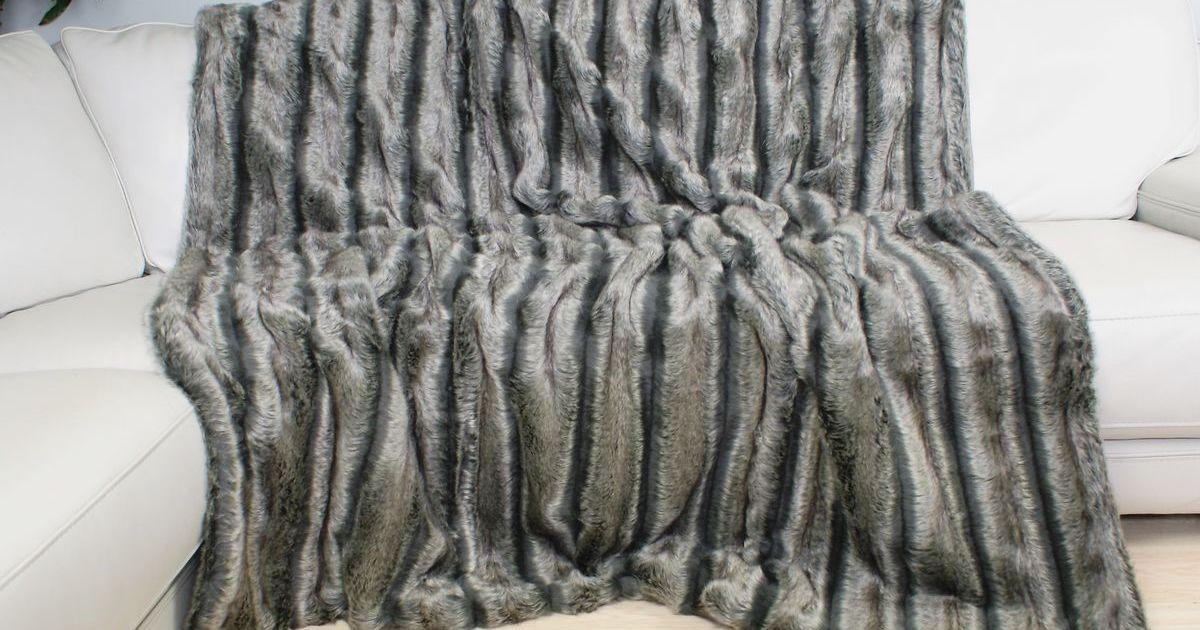 Luxury Alaskan Ash Faux Fur Bed Runner