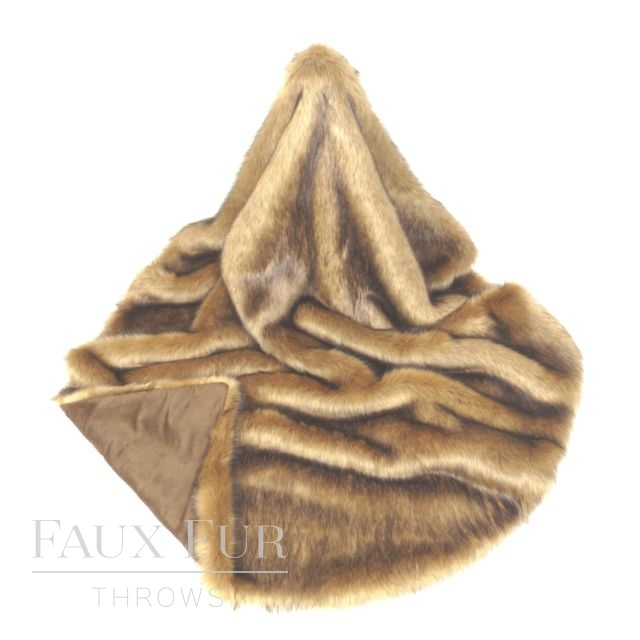 Gold Brown Faux Fur Throw – ARABIAN DESERT
