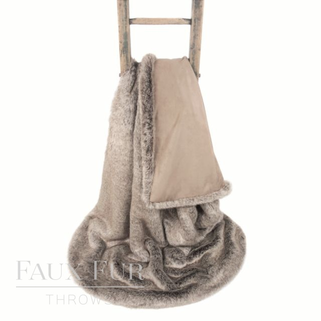 Brown Faux Fur Throw – CHOCOLATE TRUFFLE