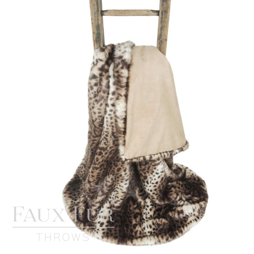 Columbian Ocelot Luxury Faux Fur Throw