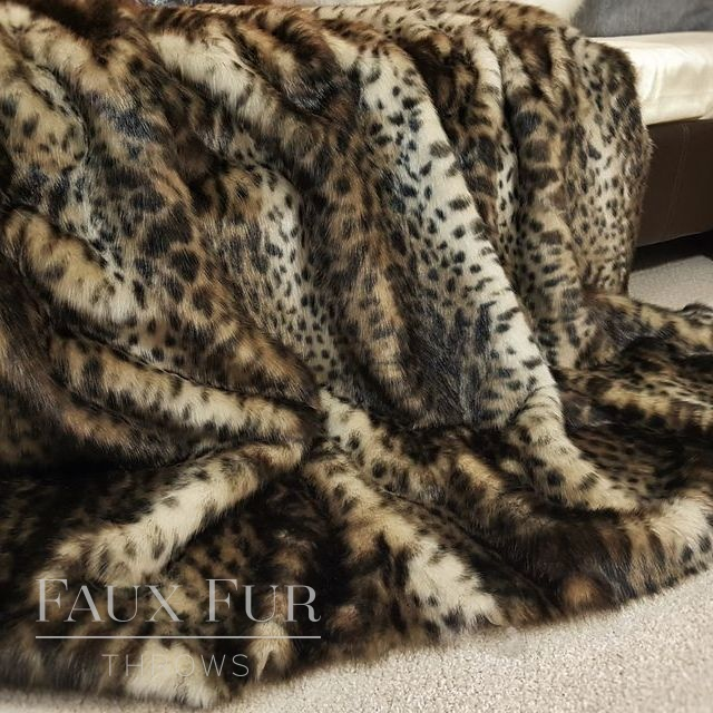 Animal Pattern Faux Fur Throw – COLOMBIAN OCELOT